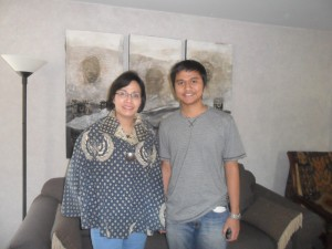 Timmy with Ibu Sri Mulyani