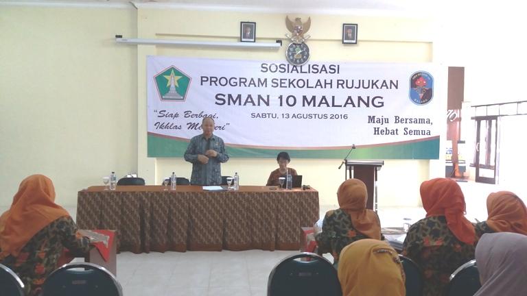 Foto 1 - Sambutan Kepala SMAN 10 Malang Drs. Tri Suharno, M.Pd