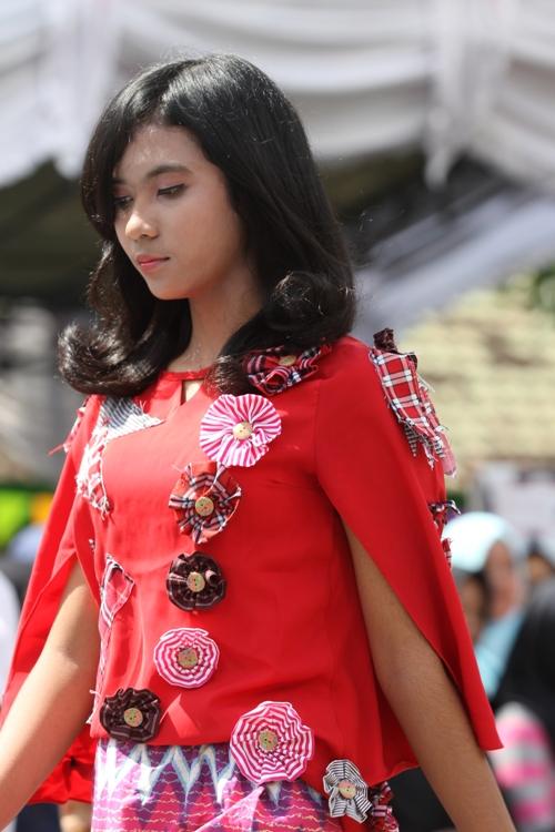 Salah satu model fashion show
